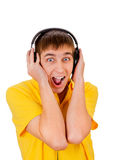 Young Man in Headphones Royalty Free Stock Photos