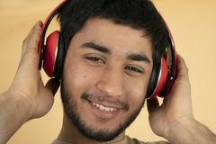 Young Man with Headphones Stock Photos
