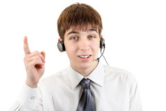 Young Man with Headset Stock Images