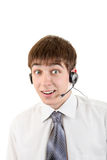 Young Man with Headset Royalty Free Stock Photo