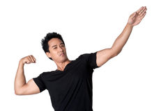 Young man healthy attractive isolated Stock Photo