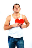 Young man with a heart Stock Photo