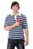 Young man with heart. Royalty Free Stock Photo