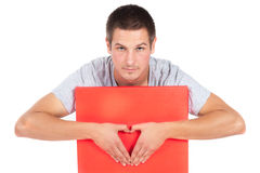 Young man heart Royalty Free Stock Image