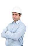 Young man in helmet Stock Photos