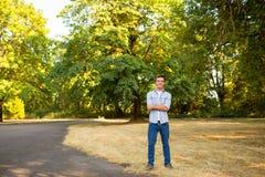 Young Man High School Senior Portrait. Portrait of a young man who is a high school senior in Oregon Stock Photos