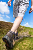 Young man hiking on a lovely sunny day Royalty Free Stock Image
