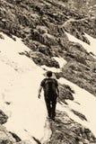 Young man hiking Stock Photos