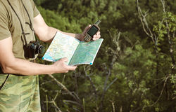 Young man hiking smiling happy portrait.  Royalty Free Stock Images
