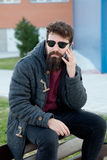 Young man with hipster look Stock Photography