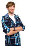 Young man with his arms folded Royalty Free Stock Images