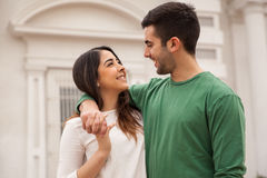 Young man and his girlfriend stock image