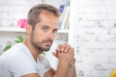 Young man in his office Stock Image