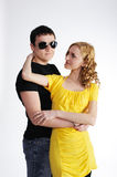 Young man with his pretty girlfriend Royalty Free Stock Photography