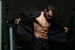 Young Man With His Shirt Open Royalty Free Stock Photo