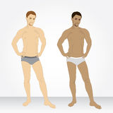 A young man in his underwear in full growth Stock Photography