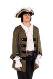 Young man in a historical costume. Portrait of young man in a historical costume Royalty Free Stock Image