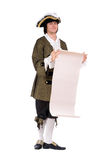 Young man in a historical costume Royalty Free Stock Photo
