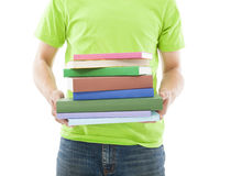 Young Man holding the Books Royalty Free Stock Photography