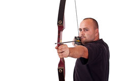 Young man holding bow Stock Photography