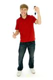 Young man holding car keys Royalty Free Stock Photos