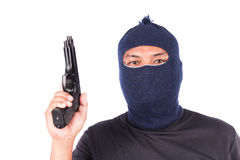 Young man holding gun Stock Image
