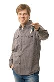 Young man holding ignition keys Stock Image