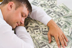 Young Man Holding Money Royalty Free Stock Photos