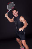 Young Man Holding Tennis Racket Stock Photography