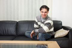 Young man at home Royalty Free Stock Photo