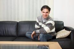 Young man at home Royalty Free Stock Photo