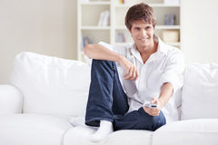 A young man at home Stock Photos