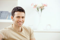 Young man at home Stock Images