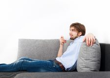 Young man at home Royalty Free Stock Images