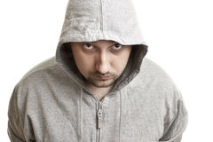 Young man in a hood Stock Photo