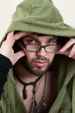 Young man in a hoodie Stock Photos