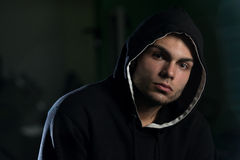 Young Man In A Hoodie Stock Images