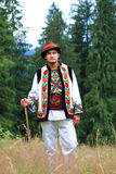 Young man in hutsul costume Stock Photos