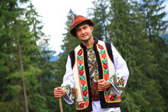 Young man in hutsul costume Stock Photo