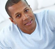 Young man. Image of young African man looking at camera with smile Royalty Free Stock Photography