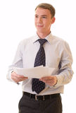 Young Man In An Office Suit Stock Photo