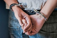 Free Young Man In Handcuffs Royalty Free Stock Photography - 159341147