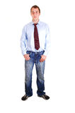Young Man In Jeans. Stock Photos