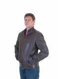 Young Man In Leather Jacket. Stock Photography