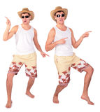Young Man In Sunglasses Dances Stock Photos