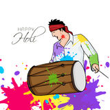 Young man for Indian festival, Holi celebration. Royalty Free Stock Photo