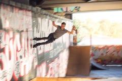 Young man on inline skates. Stock Photos