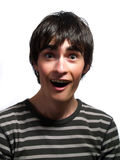 Young Man Is Surprised Stock Photo