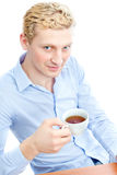 A young man, isolate background Stock Images