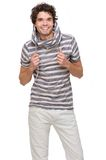 Young Man Isolated on white Background Stock Image
